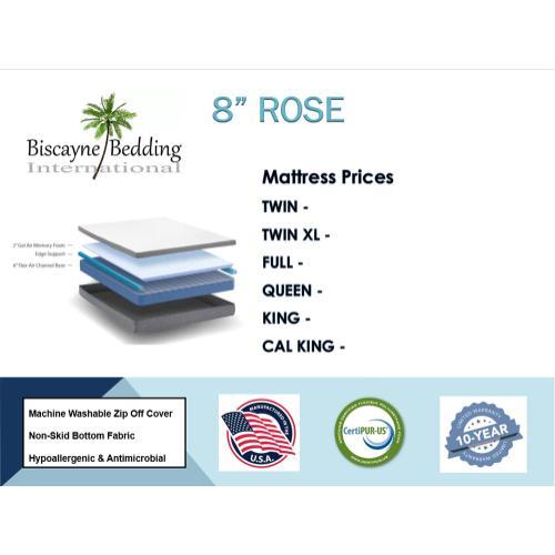 """Biscayne Bedding - 8"""" Rose"""