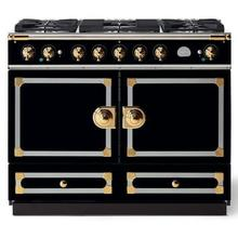 Gloss Black Cornufe 110 with Polished Brass Accents