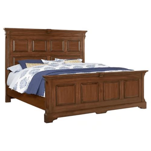 Vaughan-Bassett - King MANSION BED WITH PLATFORM BASE