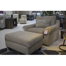 Swivel accent chair & ottoman