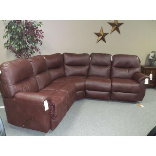 5-piece Wine Reclining Sectional