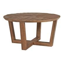 See Details - Round Walnut Wood Coffee Table