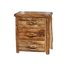 3 Drawer Chest Log Front Natural Panel Natural Log