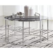 Clenco Black/Chrome Cocktail Table