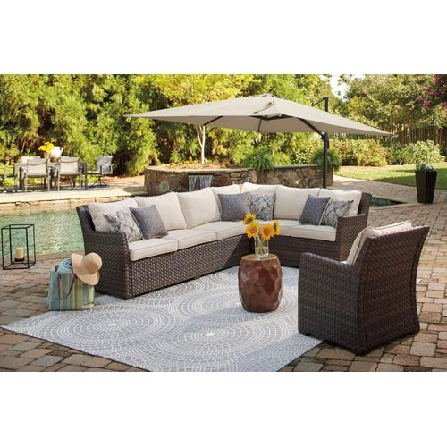 Easy Isle Outdoor Sectional with Lounge Chair