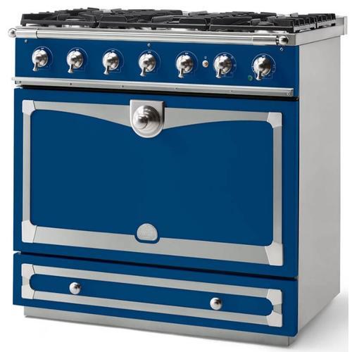 Lacornue Cornufe - Royal Blue Albertine 90 with Satin Chrome Accents
