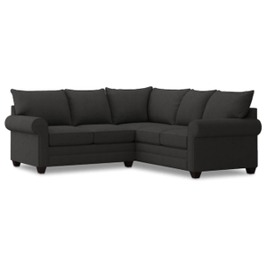 Alex Roll Arm Small Sectional - Charcoal