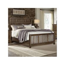 King Dark Oak Craftsman Bed
