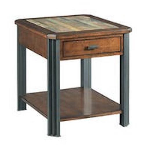 England Furniture - Slaton Rectangular End Table H675915 - Warm Mocha