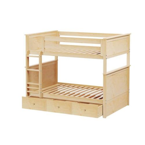 Jackpot Kent Full/Full Bunk   Trundle Storage In Natural Finish