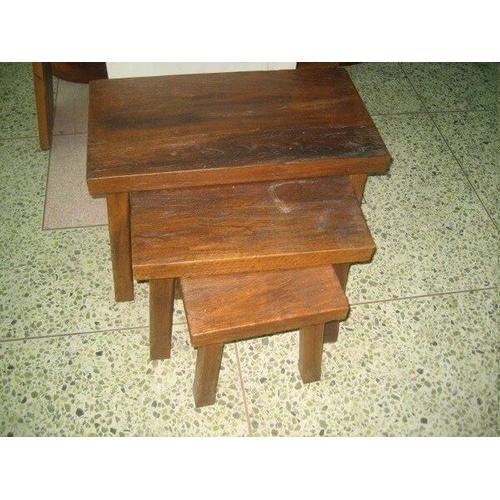 All Resort Furnishings - Rustic Nesting Tables - Set of 3