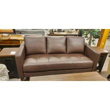 CLOSEOUT USA MADE LEATHER SOFA, 1 ONLY