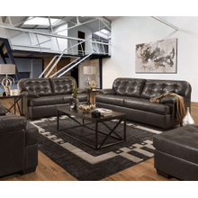 View Product - Sofa and Loveseat - Granite - Leather