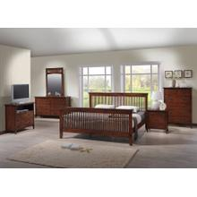 MISSION QUEEN BED FRAME - MERLOT