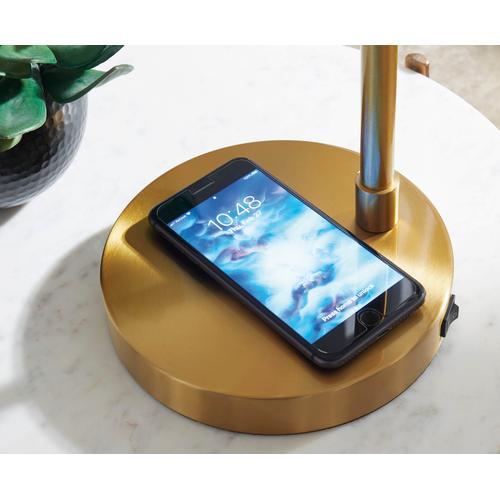 Abanson Metal Desk Lamp with Wireless Charging Pad