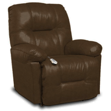 View Product - ZAYNAH Leather Power Recliner - Walnut