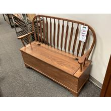 Amish Paddle Back Bench