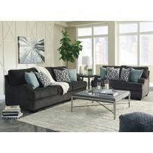 View Product - Clarenton- Charcoal Sofa and Loveseat