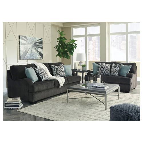 Clarenton- Charcoal Sofa and Loveseat