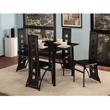 5 Piece Black Dining Room Set