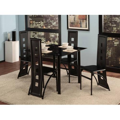 Affordable Furniture - 5 Piece Black Dining Room Set