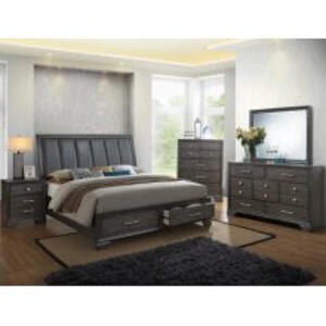 Jaymes Kg Bed, Dresser, Mirror, Chest and Nightstand
