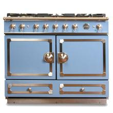 "View Product - CornuFe 110 cm Dual-Fuel Range (43"")- Provence Blue w/ Satin Chrome Trim"