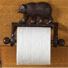 Cast Bear Toilet Tissue Holder