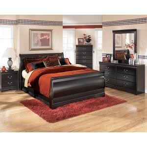 Ashley Furniture - Huey Vineyard - Black 6 Piece Bedroom Set