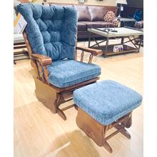 JIVE Glider Rocker & Ottoman in Denim      (C8207/C0097DP-18902,29017)