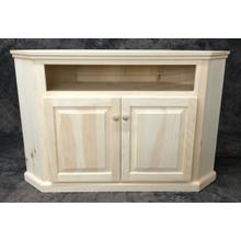 Maine Made Clip Corner TV Stand 32.5W X 30H X 32.5D Pine Unfinished