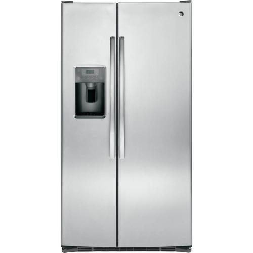 GE Appliances - GE 25.4-cu ft Side-by-Side Refrigerator with Ice Maker (Stainless Steel)