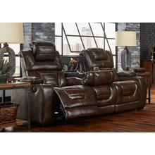 CORINTHIAN 73901-39HRRS Manhattan Desert Chocolate Power Reclining Console Sofa