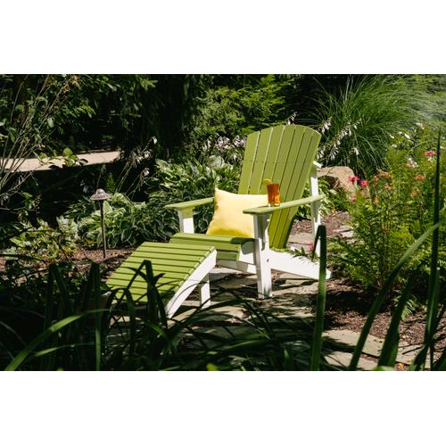 Deluxe Adirondack Footrest Yellow