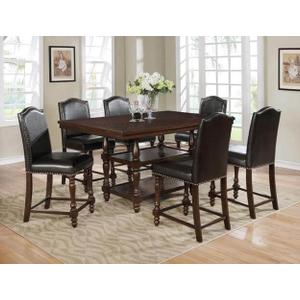 Packages - Crown Mark 2766 Langley Counter Height Dining Group