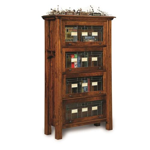 Leaded Glass Bookcase