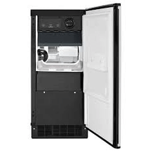 MOD # KUIC15P0ZPDS S/N 5874 PARTIAL WARRANTY  15 Inch Built-in Ice Maker with 50 lbs. Daily Ice Production, 25 lbs. Ice Storage Capacity, Integrated Filter, Automatic Shutoff, Factory Installed Drain Pump and Custom Panel Required