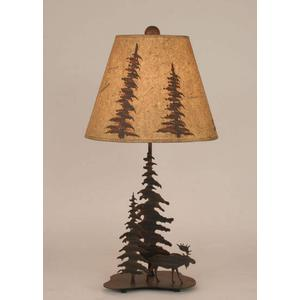 Iron Feather Tree Series With Moose Accent