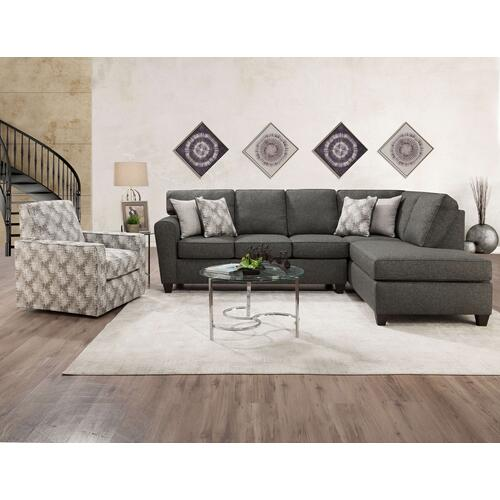 Grande Charcoal Chaise Sectional