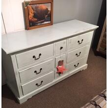Nine-drawer dresser. Cottaged Sorbet finish,