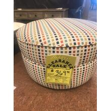 See Details - Colorful round ottoman