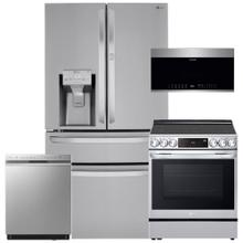 See Details - Stainless Steel 30 cu. ft. Smart wi-fi Enabled Refrigerator with Craft Ice Maker- 4 Pc Package