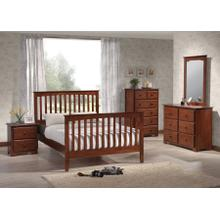 MERRIMAC MISSION QUEEN BED FRAME - MERLOT