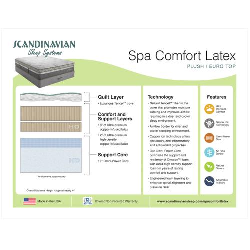 Spa Comfort Latex Plush/Euro Top