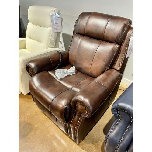 Barcalounger - Leather Langston Lift Chair w/ Power Headrest and Lumbar