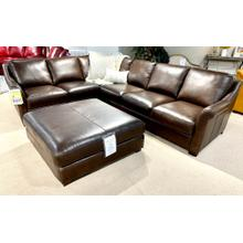 See Details - Everest Italian Leather Sectional in Chocolate
