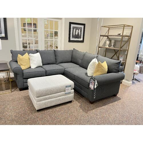 Bassett Furniture - ALEXANDER SECTIONAL IN GREY