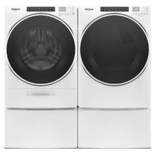 WHIRLPOOL Go XL Dispenser 4.5 Cu.Ft. Front Load Washer & 7.4 Cu.Ft. Electric Dryer with Pedestals - White