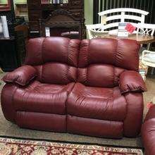 View Product - RED HOT BUY! Leather Power Double Reclining Loveseat