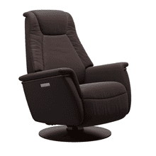 See Details - Max Large Power Swivel Rocker Recliner with Power Headrest and Lumbar